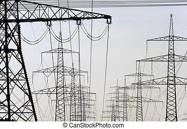 postes, energía eléctrica