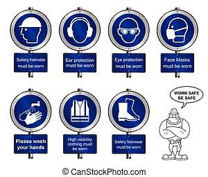 postes indicadores, salud, seguridad