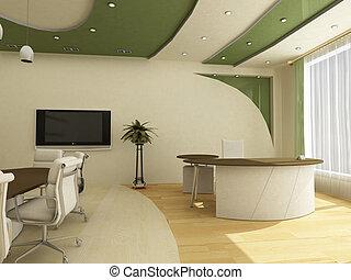 posti lavoro, in, moderno, ufficio, classical;