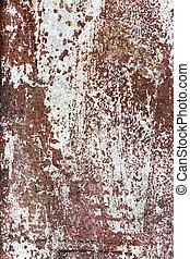 postihnout, kov, tkanivo, barva, korodovat, vynořit se, neposkvrněný, rez
