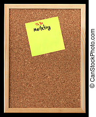 postit background - An empty cork bulletin or message board