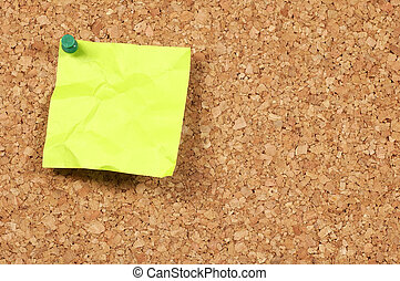 Postit Note - Postit Tacked to a Corkboard
