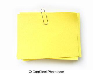 postit - write note on it!