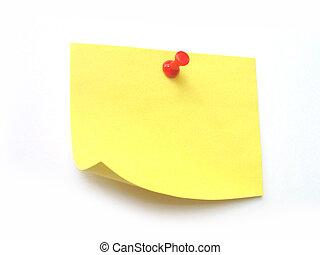 postit - write something on it