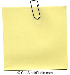 Yellow Post it isolated over a white background