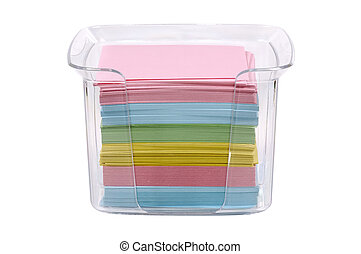 Postits - Isolated Postit Notes in a Holder
