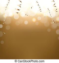 postkaart, gouden, jaarwisseling
