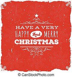 postkaart, kerstmis, vrolijk