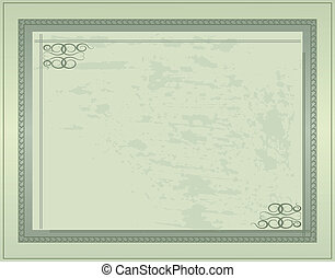 postkaart, ouderwetse , 1, vector