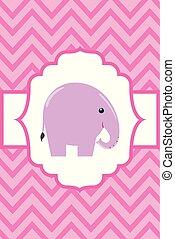 postkaart, schattig, weinig; niet zo(veel), elefant
