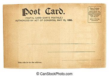 postkaart, staten, verenigd, oud, groet