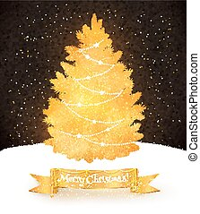 postkaart, vector, kerstmis, illustratie