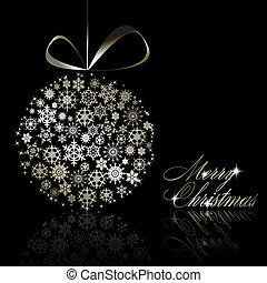 postkaart, zilver, zalige kerst