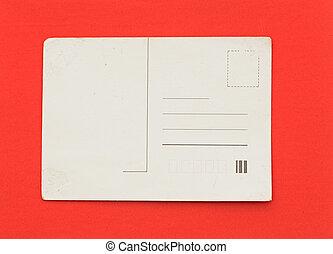 postkarte, altes , hintergrund, leerer , rotes