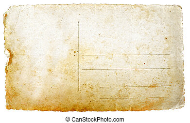 postkarte, altes , leerer