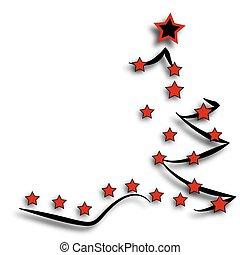 postkarte, baum, weihnachten