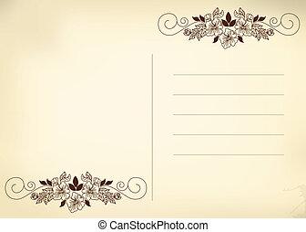 postkarte, beige