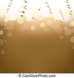 postkarte, goldenes, jahreswechsel