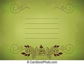 postkarte, grün