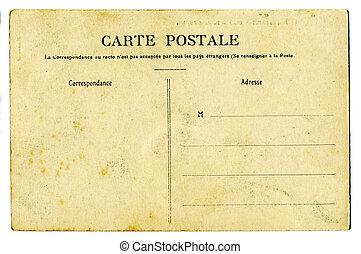 postkarte, weinlese