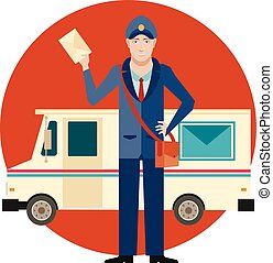 Postman and his Car