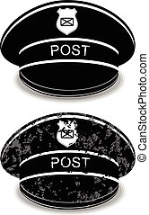 Postman cap - Postman peaked cap vector illustration ...