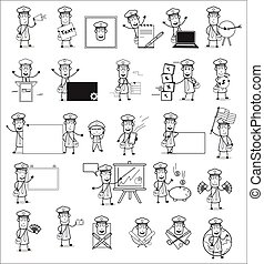Postman Character Collection - Set of Concepts Vector illustrations