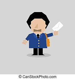 PostMan Character Vector Illustration