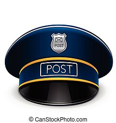 postman peaked cap vector illustration isolated on white background