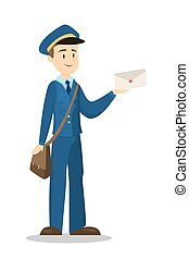 Postman with envelope.