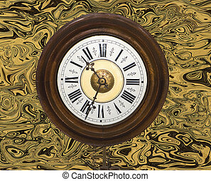 postman's, vieux, horloge