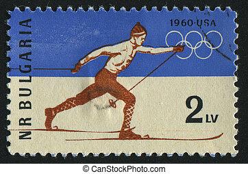 postmark - BULGARIA - CIRCA 1960: stamp printed by Bulgaria,...