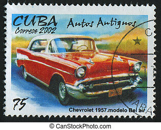postmark - CUBA - CIRCA 2002: stamp printed by Cuba, shows...