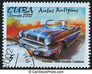 postmark - CUBA - CIRCA 2002: stamp printed by Cuba, shows ...