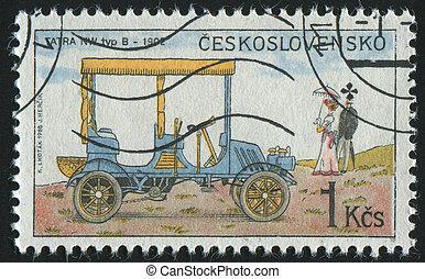 postmark - CZECHOSLOVAKIA - CIRCA 1988: stamp printed by...
