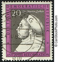 postmark - GERMANY- CIRCA 1967: stamp printed by Germany,...