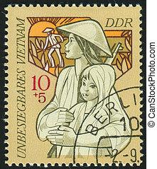 postmark - GERMANY- CIRCA 1970: stamp printed by Germany,...