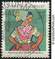 postmark - GERMANY- CIRCA 1971: stamp printed by Germany,...