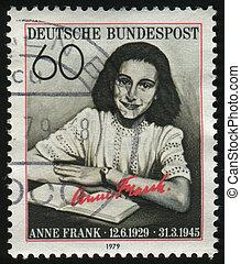 postmark - GERMANY- CIRCA 1979: stamp printed by Germany,...