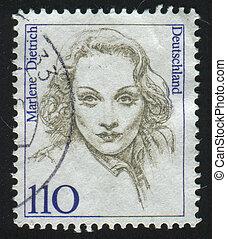 postmark - GERMANY - CIRCA 1986: stamp printed by Germany, ...