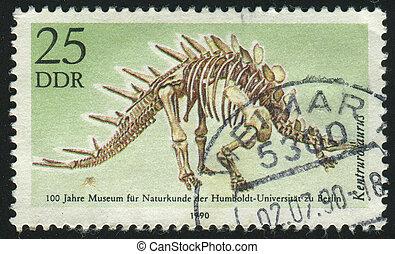 postmark - GERMANY- CIRCA 1990: stamp printed by Germany,...