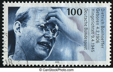 postmark - GERMANY- CIRCA 1995: stamp printed by Germany,...