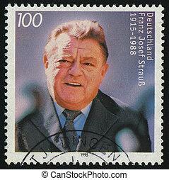 postmark - GERMANY- CIRCA 1995: stamp printed by Germany,...