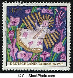 postmark - GERMANY- CIRCA 1998: stamp printed by Germany,...
