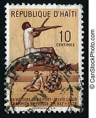 postmark - HAITI - CIRCA 1959: Sylvio Cator was a Haitian...