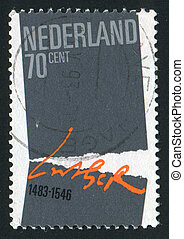 postmark - NETHERLANDS - CIRCA 1983: Symbolic Separation....
