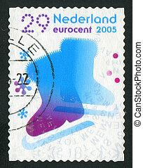 postmark - NETHERLANDS - CIRCA 2005: Christmas stamp....