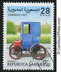 postmark - SAHARAUI - CIRCA 1997: stamp printed by Saharaui,...