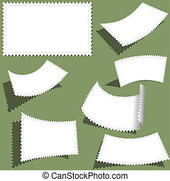 Postmark Set - different views, vector illustration
