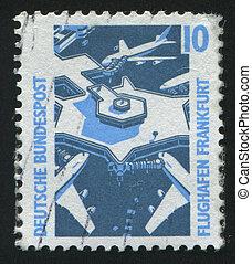 postmark - GERMANY - CIRCA 1987: stamp printed by Germany,...
